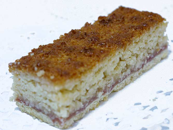 coconut and raspberry slice