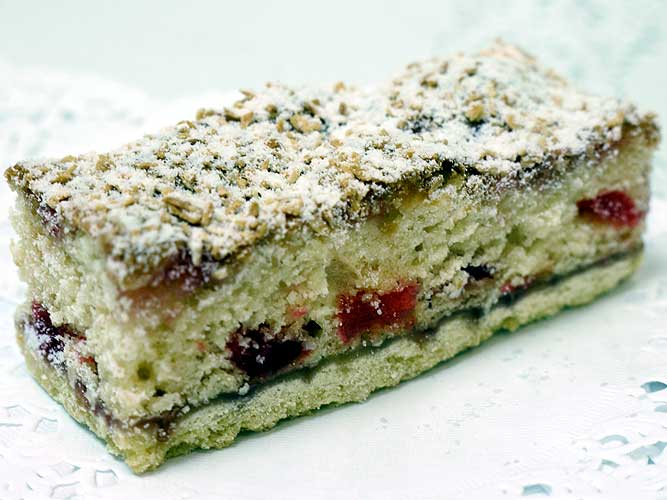coconut and cherry slice