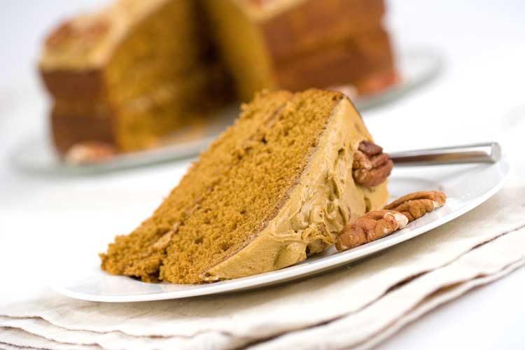 coffee and pecan cake