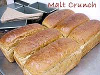 malt crunch bread loaf